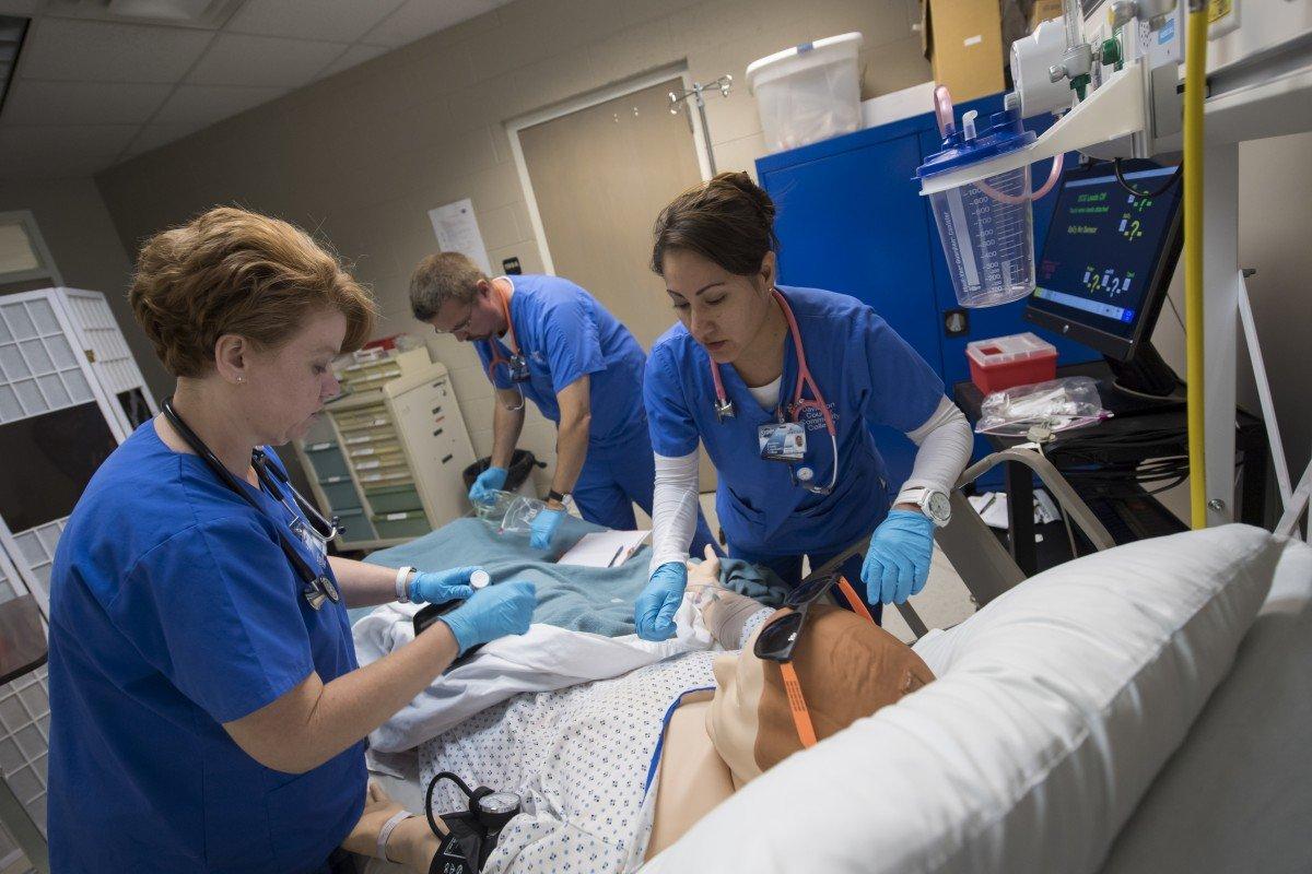 Nursing Students in Lab