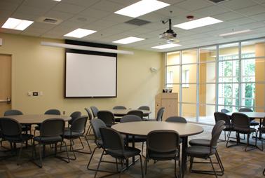 Conference Center Rounds Setup