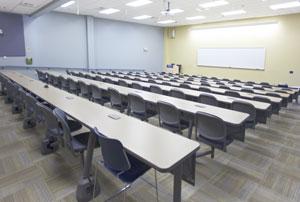 Conference Center Sloped Classroom Setup