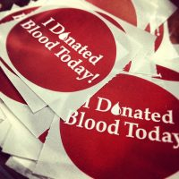 Blood Drive sticker
