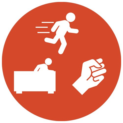 Orange Safety Icon