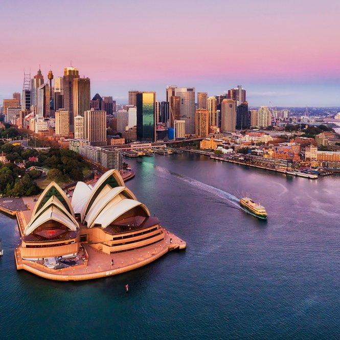 Australia Harbor with Opera House