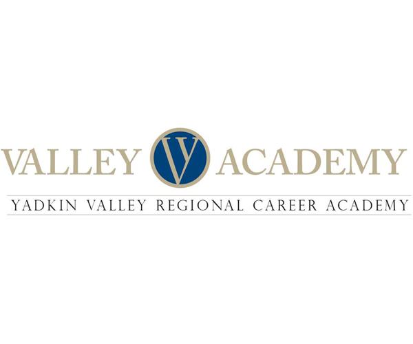 "Text Reads: ""Valley Academy Yadkin Valley Regional Career Academy"