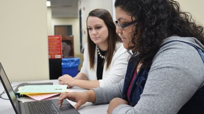 Career Counseling Helps Student using laptop