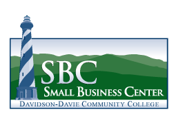 "Icon Text reads: ""SBC Small Business Center Davidson-Davie Community College"""