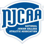 """NJCAA Shield Logo. Text Reads: """"National Junior College Athletic Association"""""""