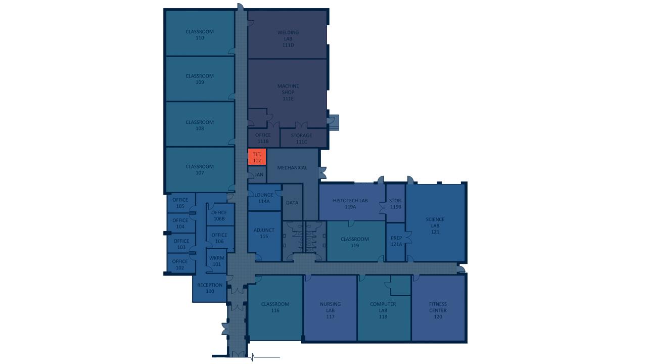 Diagram that show unisex restrooms on the Davie Campus
