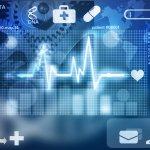 Medical symbols on illustrative graphic