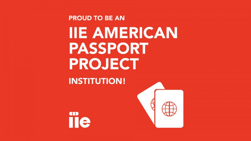 """Text reads: """"IIE American Passport Project Instituition"""""""